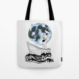 Night above the moon. Tote Bag