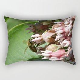 Honeybee on Milkweed Rectangular Pillow