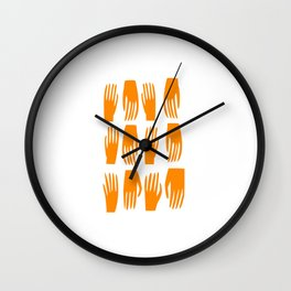 Helping Hand Wall Clock