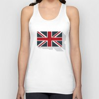 union jack Tank Tops featuring Union by rob art | simple