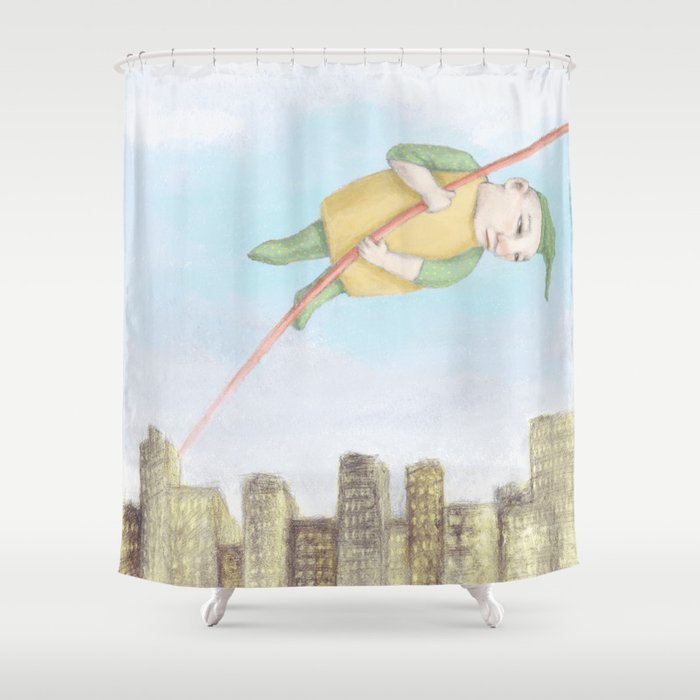 Sleepless Shower Curtain