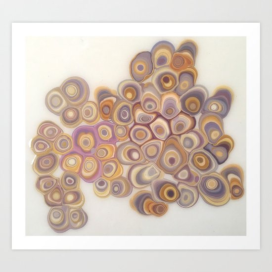 Spotted Geodes Art Print