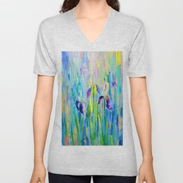"Abstraction of ""Irises"". Unisex V-Neck"