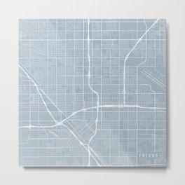 Fresno Map, USA - Slate Metal Print