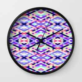 Smart Diagonals Coral Wall Clock