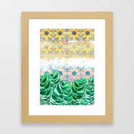 Plants and Tiles Framed Art Print