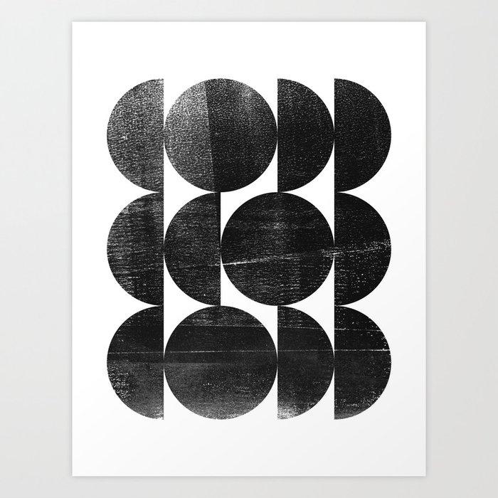 Black and White Mid Century Modern Op Art Kunstdrucke
