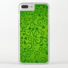shamrock, ireland, irish gift, irish gifts women, luck of the irish, saint patricks day Clear iPhone Case