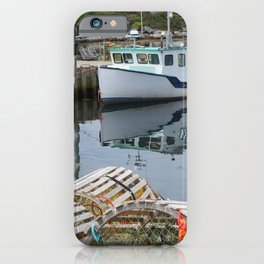 Fishing Boat in Peggy's Cove, Nova Scotia iPhone Case