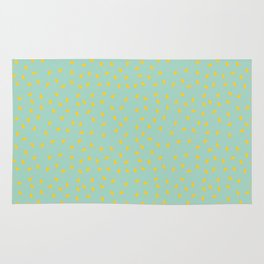 Yellow Pit on Mint /// www.pencilmeinstationery.com Rug