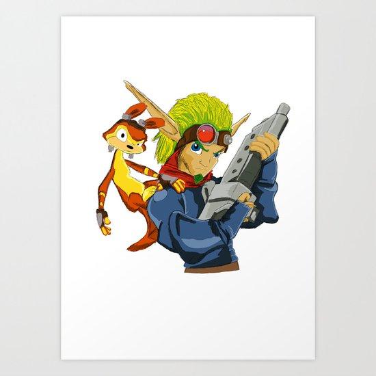 Jak and Daxter Art Print