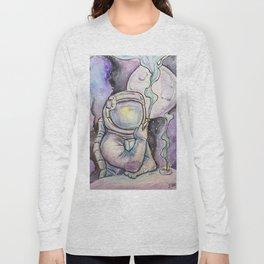 """Space Kills""   Funny WaterColor Illustration Long Sleeve T-shirt"