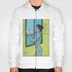leggere nudi davanti alla finestra Hoody