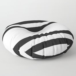 Spaced Out Horizontal Stipes Floor Pillow