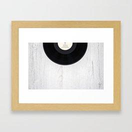 Black vintage vinyl record Framed Art Print
