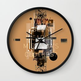"""""""Filthy Lesson"""" Graphic Art Print Wall Clock"""