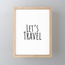 Let's Travel Adventure trip Outdoor Wanderlust Framed Mini Art Print