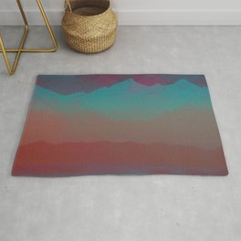 Ombre Mountainscape (Sunset Colors) Rug