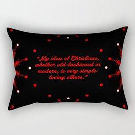 "My idea of... ""Bob Hope"" Christmas Quote Rectangular Pillow"