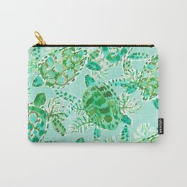 TURTLE FLOAT Watercolor Carry-All Pouch