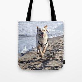 WHITE DOG in SICILY Tote Bag