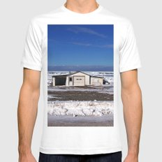 Garage and the Frozen Sea MEDIUM White Mens Fitted Tee