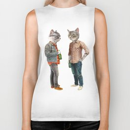 A Cats Night Out Biker Tank