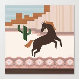 Wild Desert Horse Canvas Print