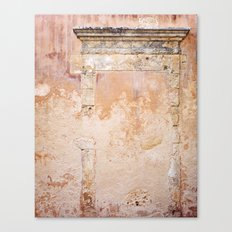 Ancient Marble Doorframe and Plaster, Crete, Greece Canvas Print