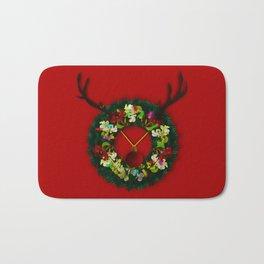 Wreath Reindeer Bath Mat