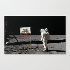 California Republic Flag on the Moon Canvas Print