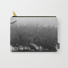 Cranes in the fog Carry-All Pouch