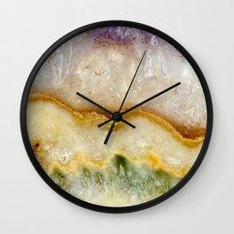 Striated Amethyst in Purple Gold & Green Wall Clock