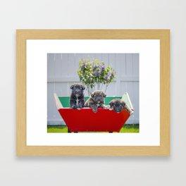 Three Pup-migos Framed Art Print