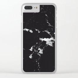 Black Marble #3 #decor #art #society6 Clear iPhone Case