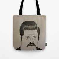 swanson Tote Bags featuring Swanson by Clayton Craiger
