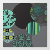 oriental Canvas Prints featuring Oriental by thickblackoutline