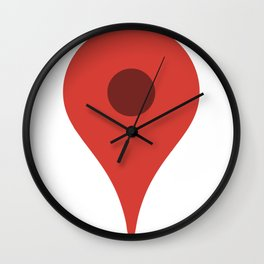 Maps Wall Clock