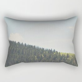 above the tree line of the Santa Fe National Forest Rectangular Pillow