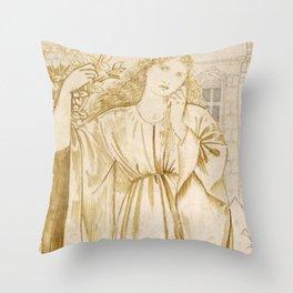 """Edward Burne-Jones """"Chaucer's 'Legend of Good Women' - Hypsiphile And Medea"""" Throw Pillow"""