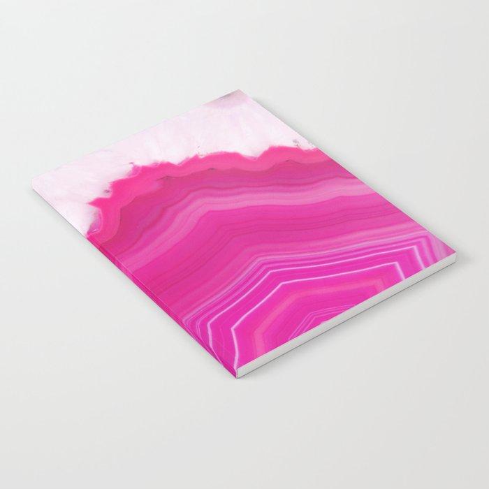 Pink Agate Slice Notebook