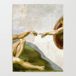 The Creation of Adam Painting by Michelangelo Sistine Chapel Poster