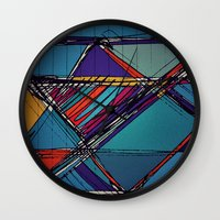 urban Wall Clocks featuring Urban by Julia Tomova