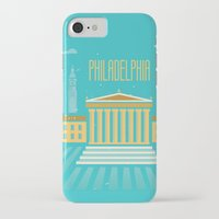 philadelphia iPhone & iPod Cases featuring Philadelphia by Marina Design