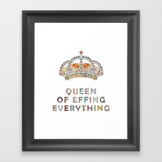 her daily motivation Framed Art Print