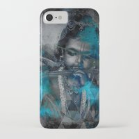 hindu iPhone & iPod Cases featuring Krishna The mischievous one - The Hindu God by sarvesh