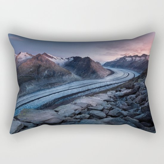 Sunset in the mountains Rectangular Pillow