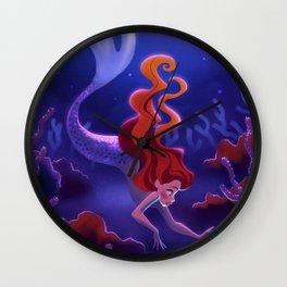 Redhead Mermaid Wall Clock