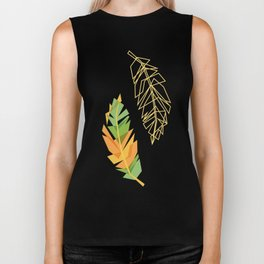 Feather pattern Biker Tank