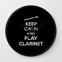 Clarinet Saying Wall Clock